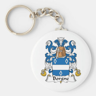 Escudo de la familia de Borgne Llavero Personalizado