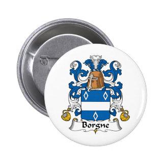 Escudo de la familia de Borgne Pin Redondo 5 Cm
