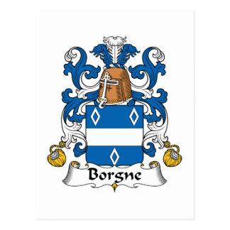 Escudo de la familia de Borgne Postales