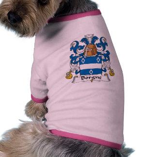 Escudo de la familia de Borgne Camiseta Con Mangas Para Perro