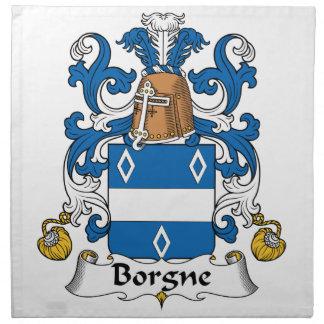Escudo de la familia de Borgne Servilletas Imprimidas