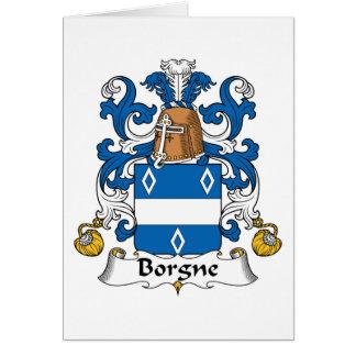 Escudo de la familia de Borgne Tarjeta De Felicitación