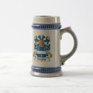 Escudo de la familia de Borgne Tazas De Café