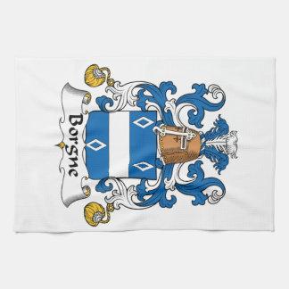 Escudo de la familia de Borgne Toalla De Mano