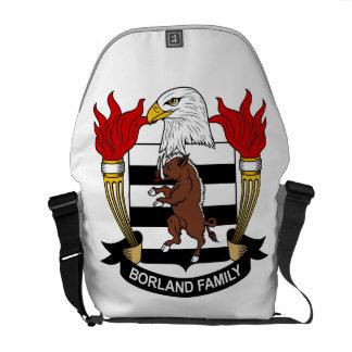 Escudo de la familia de Borland Bolsas Messenger