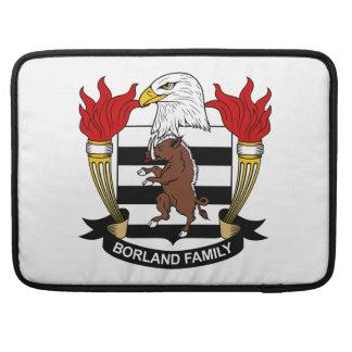 Escudo de la familia de Borland Fundas Para Macbook Pro