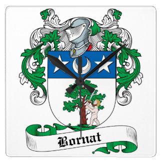 Escudo de la familia de Bornat Reloj Cuadrado