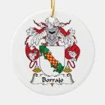 Escudo de la familia de Borrajo Ornamento De Navidad