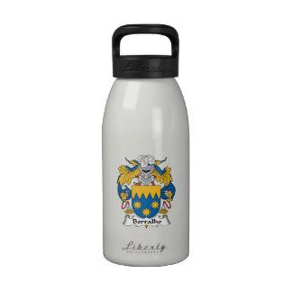 Escudo de la familia de Borralho Botella De Agua Reutilizable