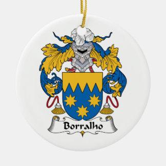 Escudo de la familia de Borralho Ornamento De Navidad
