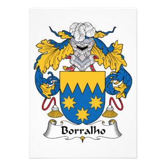 Escudo de la familia de Borralho Invitación Personalizada