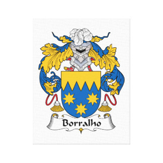 Escudo de la familia de Borralho Lienzo Envuelto Para Galerias