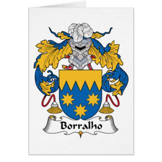 Escudo de la familia de Borralho Tarjeta