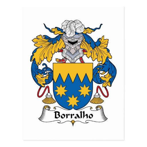 Escudo de la familia de Borralho Tarjeta Postal