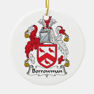 Escudo de la familia de Borrowman Adorno Redondo De Cerámica