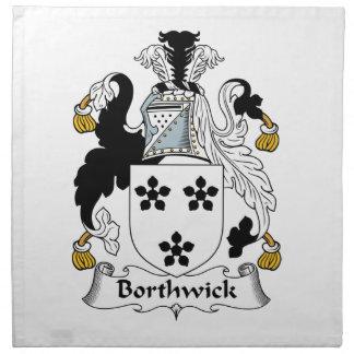 Escudo de la familia de Borthwick Servilleta Imprimida