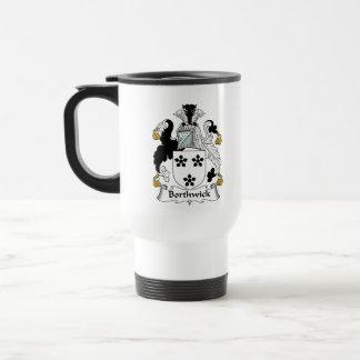 Escudo de la familia de Borthwick Tazas De Café