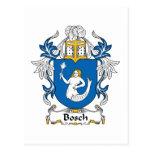 Escudo de la familia de Bosch Tarjetas Postales