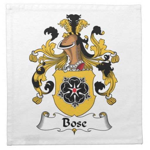 Escudo de la familia de Bose Servilletas