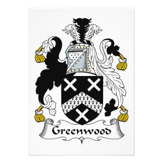Escudo de la familia de Bosque verde Anuncio