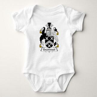 Escudo de la familia de Bosque verde Body Para Bebé