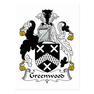 Escudo de la familia de Bosque verde Postales