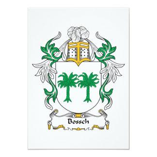 """Escudo de la familia de Bossch Invitación 5"""" X 7"""""""