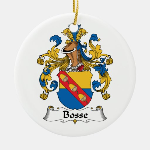 Escudo de la familia de Bosse Ornamento Para Reyes Magos