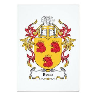 """Escudo de la familia de Bosse Invitación 5"""" X 7"""""""
