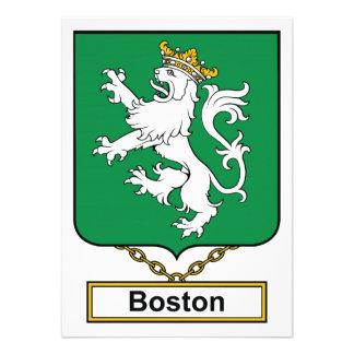 Escudo de la familia de Boston Comunicados Personalizados