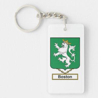 Escudo de la familia de Boston Llavero Rectangular Acrílico A Una Cara