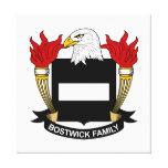Escudo de la familia de Bostwick Impresión En Lona Estirada