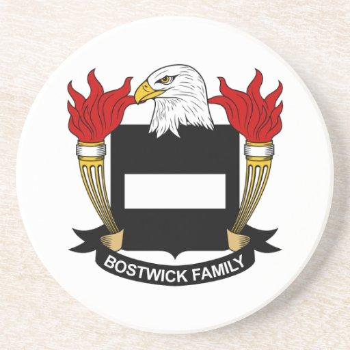 Escudo de la familia de Bostwick Posavasos De Arenisca