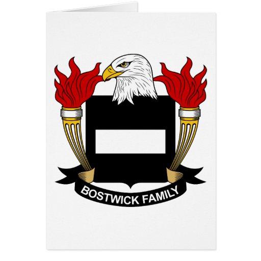 Escudo de la familia de Bostwick Tarjeta De Felicitación