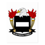 Escudo de la familia de Bostwick Tarjeta Postal