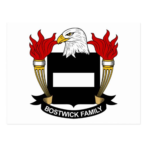 Escudo de la familia de Bostwick Tarjetas Postales
