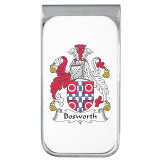 Escudo de la familia de Bosworth Clip Para Billetes Plateado