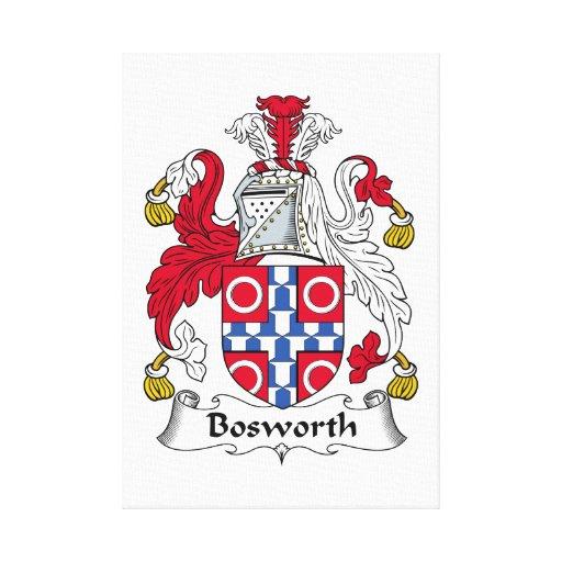 Escudo de la familia de Bosworth Impresión En Lona
