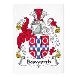 Escudo de la familia de Bosworth Invitación Personalizada