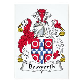 """Escudo de la familia de Bosworth Invitación 5"""" X 7"""""""