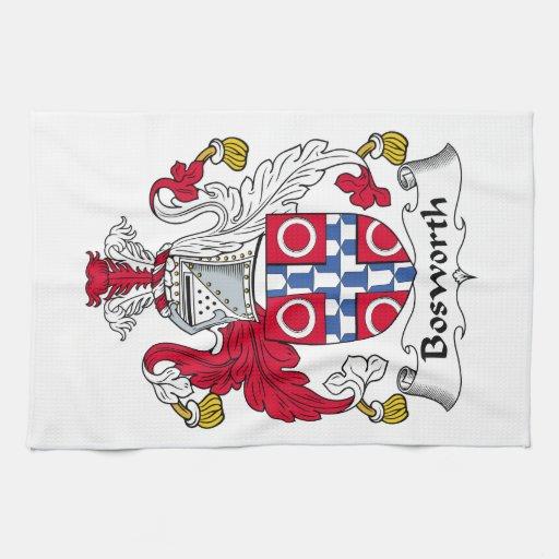 Escudo de la familia de Bosworth Toallas