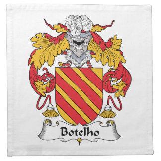 Escudo de la familia de Botelho Servilletas De Papel