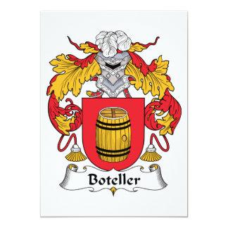 """Escudo de la familia de Boteller Invitación 5"""" X 7"""""""