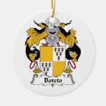 Escudo de la familia de Boteto Ornaments Para Arbol De Navidad