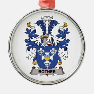 Escudo de la familia de Botner Adorno Redondo Plateado