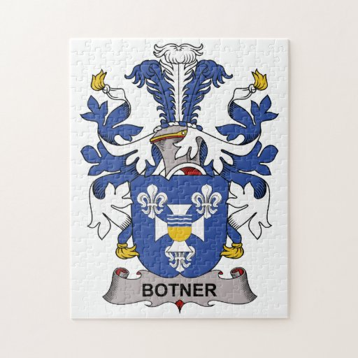 Escudo de la familia de Botner Rompecabezas Con Fotos