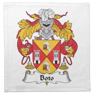 Escudo de la familia de Boto Servilleta De Papel