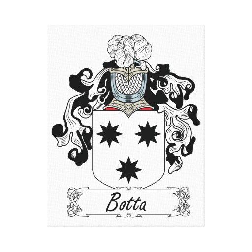 Escudo de la familia de Botta Impresión En Lienzo Estirada
