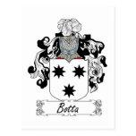 Escudo de la familia de Botta Tarjetas Postales