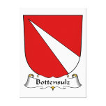 Escudo de la familia de Bottensulz Impresión De Lienzo
